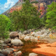 Meandering Oak Creek Canyon Poster