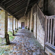 Medieval Church Entrance Poster