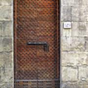Medieval Florence Door Poster