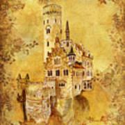 Medieval Golden Castle Poster
