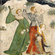Medieval Snowball Fight Poster