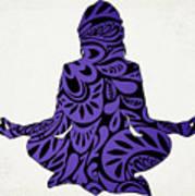 Meditate Ultraviolet Poster