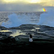 Meditating On A Rainbow Poster