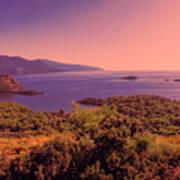 Mediterranean Sunset Glow Poster