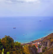 Mediterranean View Poster