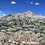 Medley Lake Basin Panorama From High Above - Sierra Poster