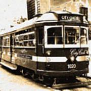 Melbourne Tram Poster by Darren Stein