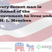Mencken Quote 3 Poster