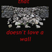 Mending Wall Transparent Background Poster