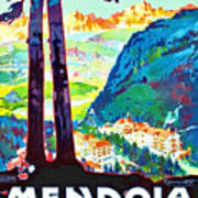 Mendola, Italy, Landscape Poster