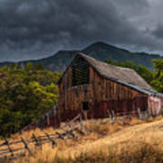 Mendon Utah Barn In Storm Poster by Gary Whitton