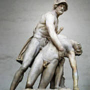 Menelaus And Patroclus Sculpture Poster