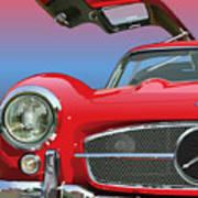 Mercedes 300 Sl Gullwing Detail Poster