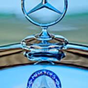 Mercedes Benz Hood Ornament Poster