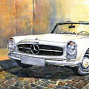 Mercedes Benz W113 280 Sl Pagoda Front Poster by Yuriy  Shevchuk