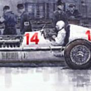 Mercedes W25c Monaco Gp 1936 Manfred Von Brauchitsch Poster
