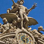 Mercury Clock At Grand Central Terminal Poster
