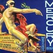 Mercury Greek God Label Poster