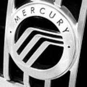 Mercury In Black And White Poster