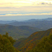 Mercy Me- A Fall View Of Craggy Gardens Nc Poster