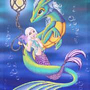 Mermaid And Sea Dragon Poster