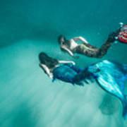 Mermaid Friends Poster