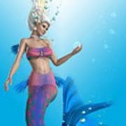 Mermaid In Aqua Poster