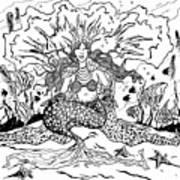 Mermaid Queen Poster