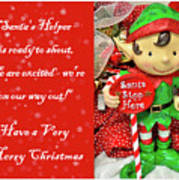 merry christmas elf poster - Merry Christmas Elf