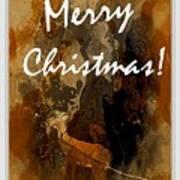 Merry Christmas Reindeer 2 Poster