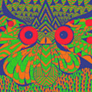 Mesmerizing Owl Poster