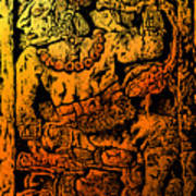 Mesoamerican  Mayan Figure Eight Century Mexico Poster