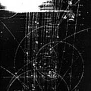 Mesons, Bubble Chamber Event Poster