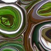 Metal Abstract Poster by Linnea Tober