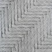 Metallic Grey Rope Weaved Pattern Poster