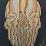 Metallic Skull Poster