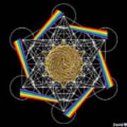 Metatron's Rainbow Healing Vortex Poster