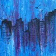 Metropolis In Blue Poster