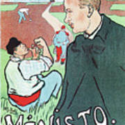 Mevisto In The Country French Theatre Ad Poster