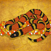 Mexican Candy Corn Snake Poster
