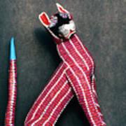 Mexican Folk Art Cat Poster