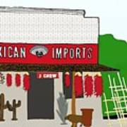 J Chew Mexican Imports Scottsdale Arizona Poster