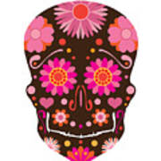 Mexican Skull Art Illustration Poster