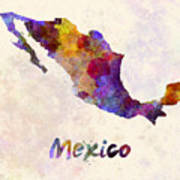 Mexico In Watercolor Poster