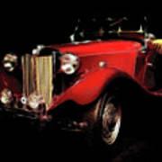 Mg Midget Roadster Poster