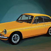 Mgb Gt 1966 Painting  Poster
