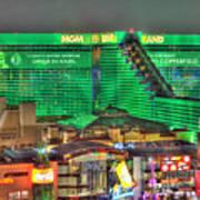 Mgm Grand Las Vegas Poster by Nicholas  Grunas