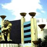 Mgm Lion In Las Vegas Poster