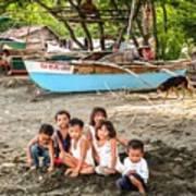 Mia-gao Fishing Children 1 Poster