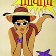 Miami Travel By Braniff Airways  1960 Poster